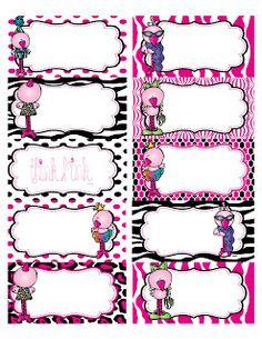 Preschool Printables: Flamingo Labels