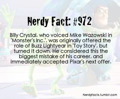 Big mistake, Billy... But Buzz Lightyear would have sounded SO weird!