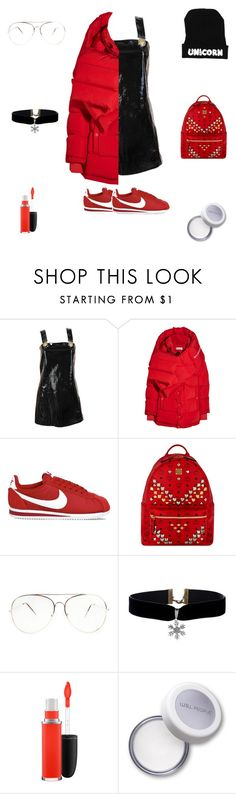 """""""Fly Like A Unicorn"""" by liyahmystyle ❤ liked on Polyvore featuring Versace, Balenciaga, NIKE, MCM and MAC Cosmetics"""