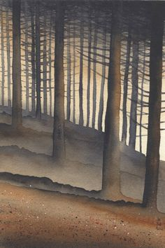 """Grizedale Forest"" by Ian Scott-Massie (watercolour)"