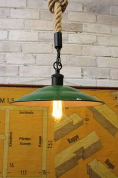 Barn Rope Pendant Light with the federation green shade