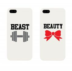 Beauty and Beast Couples Matching Cell Phone Cases for iphone 4, iphone 5, iphone 5C, Galaxy S3, Galaxy S4, Galaxy S5 by 365 in love