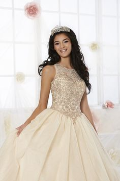 Quinceanera dresses pink - Beaded Glitter Quinceanera Dress by Fiesta Gowns 56358 – Quinceanera dresses pink Quinceanera Dama Dresses, Champagne Quinceanera Dresses, Quinceanera Party, Quinceanera Decorations, Xv Dresses, Quince Dresses, Pageant Dresses, Party Dresses, Formal Dresses