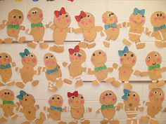 """Cute little gingerbread glyph guys and gals from """"First Grade Fever""""."""