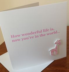 New baby Girl Card www.facebook.com/Funkyjunk.Upcycled.UK
