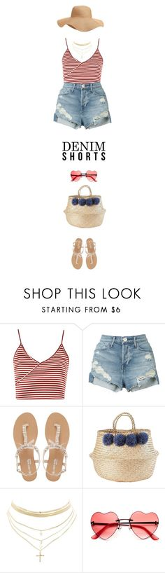 """""""Summer Staple: Denim Cutoffs"""" by marion-fashionista-diva-miller ❤ liked on Polyvore featuring Topshop, 3x1, Head Over Heels by Dune, Holly's House, Charlotte Russe, Old Navy and DENIMCUTOFFS"""