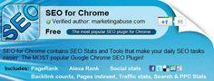 Google Chrome SEO Plugins