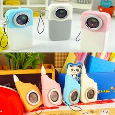 Legal Color will be random Camera Shape Design Plastic Writing Pens,Priced At Only US  $0.33