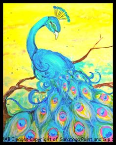 SOLO PEACOCK at Saratoga Paint and Sip Studio