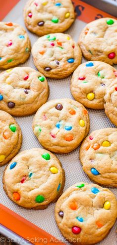 Chewy, soft-baked, simply my FAVORITE M&Ms Cookies!! Grab the recipe.