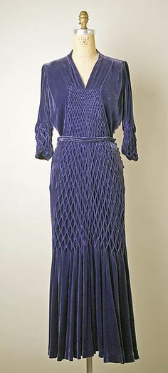 Designer: Maggy Rouff (French, 1896–1971) Date: 1934–36 Culture: French Medium: silk  Credit Line: Gift of Mrs. Maxime L. Hermanos, 1959