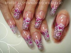 small roses by vipnailsmonika - Nail Art Gallery nailartgallery.nailsmag.com by Nails Magazine www.nailsmag.com #nailart