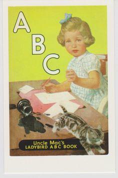 POSTCARD LADYBIRD BOOK COVER UNCLE MAC's ABC Book Derek McCulloch Nostalgic   eBay