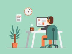 Super Cool Home Office Illustrations   Abduzeedo Design Inspiration