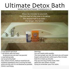 Detox bath- did this evening. .. was amazing. Lavender,  ylang ylang, tea tree and eucalyptus oils.
