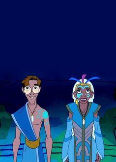 Milo and Princess Kida, Atlantis: The Lost Empire