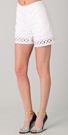 Catherine Malandrino                Shorts with Cutouts
