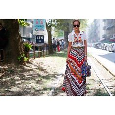 "2,026 aprecieri, 23 comentarii - Stella Jean Official Account (@stellajeanltd) pe Instagram: ""Lovely @nicolefouque spotted during Milan Fashion Week wearing Stella Jean Spring Summer 2017 shirt…"""