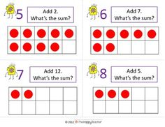 Ten-Frame Task Cards (Addition & Subtraction). Perfect for math centers!! Just print, cut, & laminate!