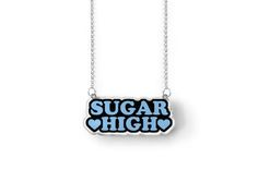 ♥ Ssssssugar High!!!! ♥ Each charm features original artwork printed onto clear acrylic. ♥ Charms measure approximately 51mm wide x 21mm tall. ♥ Pieces hang from a 16 inch long silver plated chain with a 2 inch extender, allowing you to wear them up to 18 inches. ♥ Please allow for slight variations from piece to piece, as each necklace is a unique creation. ♥ Note: I try to match the colors in my photos as close as possible to the real thing, however, please keep in mind that the colors ...