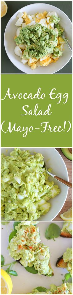 Avocado Egg Salad Mayo Free An Easy 4 Ingredient Lunch Recipe Theroastedrootnet Paleo Lunch Snacks, Lunch Recipes, Healthy Snacks, Vegetarian Recipes, Healthy Eating, Healthy Recipes, Vegetarian Salad, Burger Recipes, Diet Recipes