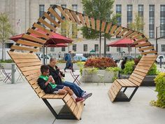 ideas for public seating area design Urban Furniture, Street Furniture, Furniture Design, Furniture Legs, Garden Furniture, Cheap Furniture, Urban Landscape, Landscape Design, Design D'espace Public