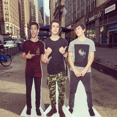 Head into any aero store & enter our raffle for the chance to win all three cut outs of Cameron Dallas, Nash Grier & Hayes Grier!