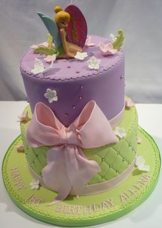tinkerbell 3 tier cake | Monika Bakes Custom Cakes Portfolio, weddings, 3d cakes, birthdays ...