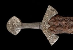 """museum-of-artifacts: """" Viking sword from Langeid. Early century The sword must have belonged to a wealthy man who lived in the late Viking Age. The sword is 94 cm long; although the iron blade has rusted, the handle is well preserved. Viking Life, Viking Art, Viking Woman, Alexandre Le Grand, Norway Viking, Norse Vikings, Viking Tattoos, Norse Mythology, Dark Ages"""