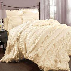 Belle Ivory Queen Size Comforter Sets Lush Decor Queen Comforter Sets Bedding