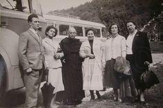 Vintage Black & White Photo  The Coach Trip to Cascata by LoosLoft, $3.25