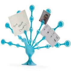 Freddy Feathers - Memo Note Holder for Desktop Notes Turquoise Peacock (Office Product)  http://www.99homedecors.com/  B004S3QGSU
