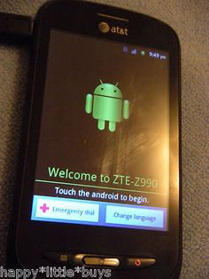 AT Avail Z990 ZTE Black Smartphone, 5MP Camera, Android *AS-IS* WORKING FINE ! GET IT BWFORE IT'S GONE