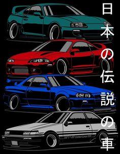 Jdm Wallpaper, Dark Wallpaper Iphone, Sports Car Wallpaper, Japanese Sports Cars, Japanese Cars, Cool Car Drawings, Street Racing Cars, Drifting Cars, Jdm Cars