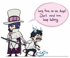 Little brothers 😅 Ao No Exorcist, Blue Exorcist Mephisto, Blue Exorcist Funny, Blue Exorcist Anime, Blue Exorcist Cosplay, Rin Okumura, Yandere, Anime Guys, I Love Anime