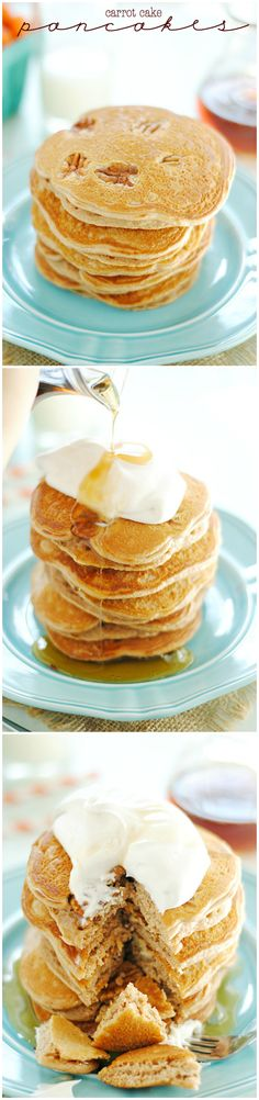 Carrot Cake Pancakes | www.somethingswanky.com #food #yummy #delicious