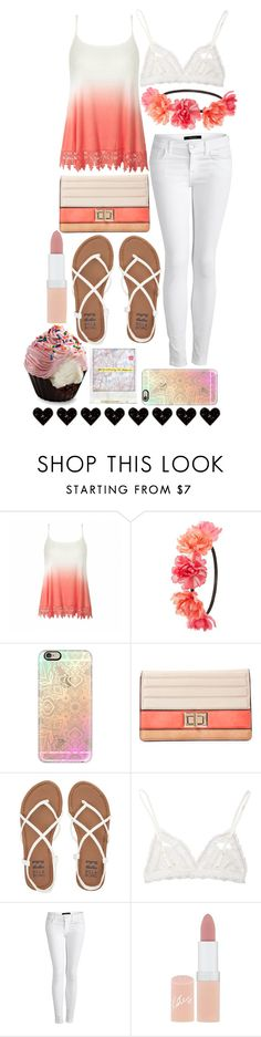 """""""pink and white tiy and diy"""" by enjoyrosa ❤ liked on Polyvore featuring Ally Fashion, Charlotte Russe, Polaroid, Casetify, Melie Bianco, Billabong, Hanky Panky, J Brand and Rimmel"""