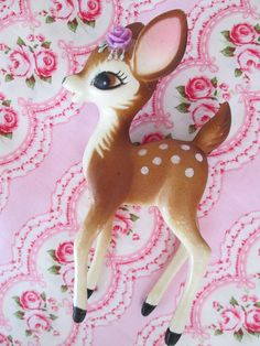 Hey, I found this really awesome Etsy listing at https://www.etsy.com/listing/242659753/vintage-bambi-plastic-deer-figurine