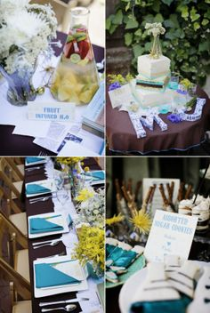 Perfect Chemistry Theme Bridal Shower by Alders Photography