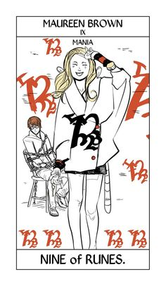 Shadowhunter Tarot Cards, Maureen Brown IX ; art by Cassandra Jean