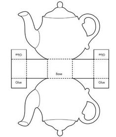 Printable Teacup Template Tea Pot Candy Box Templates - (would be cute for a girl's Beauty and the Beast party) Invitation Templates Design Candy Box Template, Box Templates, Invitation Templates, Origami Templates, Printable Templates, Free Printables, Invitation Ideas, Printable Paper, Wonderland Party