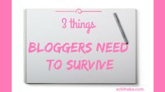 Three things blogger