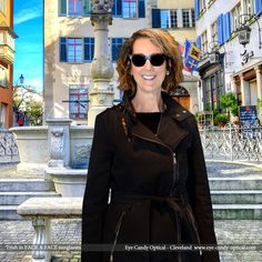 Trish is exploring Zurich in wearing her new designer sunglasses by Face a Face.  Eye Candy Eyewear Fashion - Solid as a Swiss bank! Eye Candy Optical Cleveland – The Best Glasses Store! (440) 250-9191 - Book Eye Exam over the Phone www.eye-candy-optical.com/Vision_and_Exams - Book Eye Exam Online!