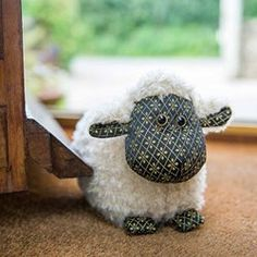 A soft and charming doorstop.