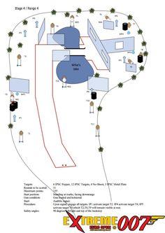 Stage 4 / Range 4: 3 IPSC Popper, 4 IPSC Targets, 1 No-Shoot, 1 IPSC Metal Plate