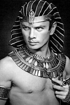 Gods and Foolish Grandeur: Ramses goes to Hollywood - Yul Brynner in The Ten Commandments Old Hollywood Stars, Golden Age Of Hollywood, Vintage Hollywood, Classic Hollywood, Film Movie, Epic Film, Classic Movie Stars, Classic Movies, Vintage Movie Stars