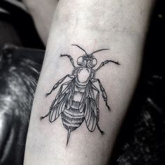 #bee #tattoo a work of art....am very interested in animal and insect tattoos