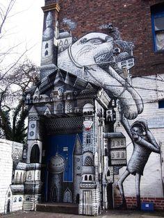 Street art Phlegm 1