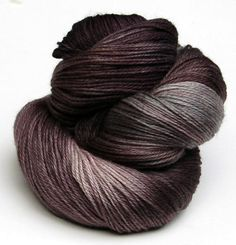 I'm craving something made out of this beautiful colorway. Earl Grey via Yarn Love...