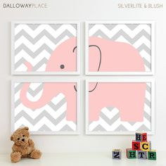 Baby Girl Nursery Art for Girls Room Decor Baby by DallowayKids. , via Etsy.